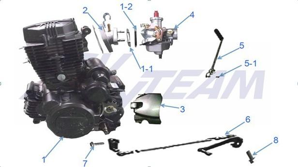 "-ACE Motor 125cc FARBE TITAN ""ANGEBOT"""