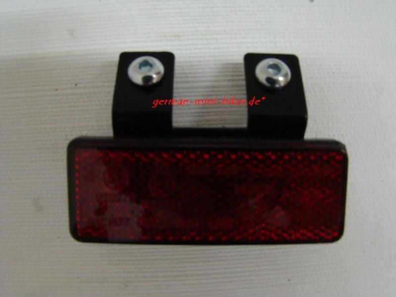 Reflektor Rot hinten - Doppelbefestigung