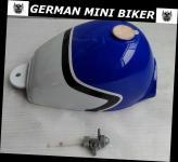 TANK Blau-Weiß Skymini 4,5 Liter mit Tankdeckel & Benzinhahn